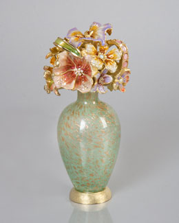 "Jay Strongwater ""Bouquet"" Perfume Bottle"