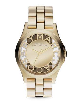 Yellow Golden Mirror Watch