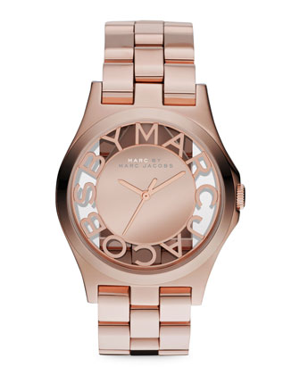 Rose Golden Mirror Watch