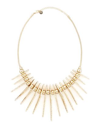 Tribal Pendant Necklace, Gold