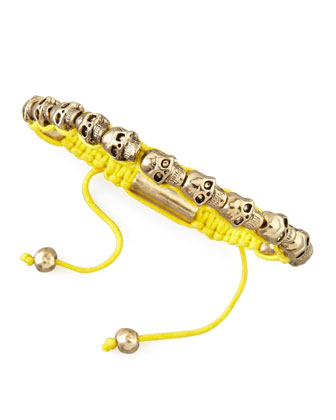 Mini Skull Wrap Bracelet, Yellow