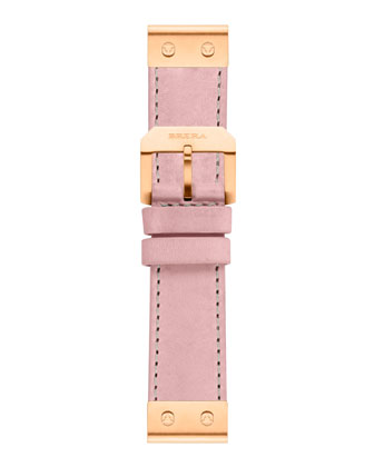 22mm Rose Petal Calfskin Strap, Golden