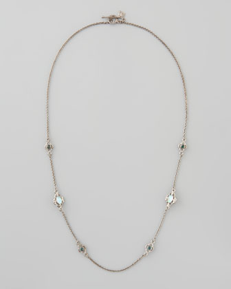 New World Opal Diamond Necklace, 20