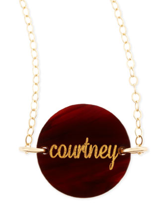 Enamel Disc Pendant Necklace