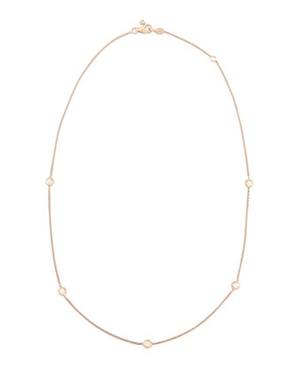 Rose Gold Diamond Station Necklace