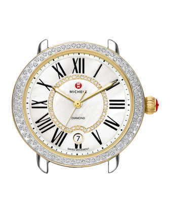 Serein Two-Tone Diamond Watch Head & 16mm Bracelet Strap
