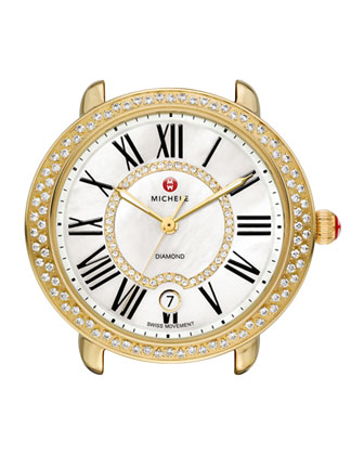 Serein Golden Diamond Watch Head & 16mm Bracelet Strap