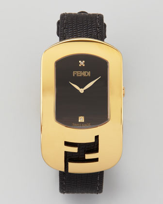 Chameleon Yellow Golden Watch, Black
