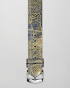 20mm Golden Ostrich Strap, Blue/Golden