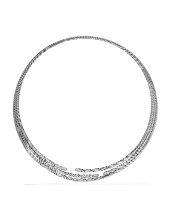 Willow Three-Row Collar Necklace with Diamonds