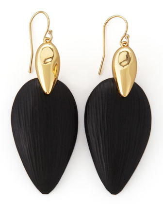 Neo Boho Lucite Marquise Earrings, Black