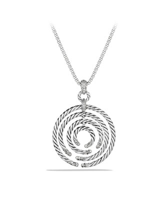 Willow Medium Pendant with Diamonds on Chain