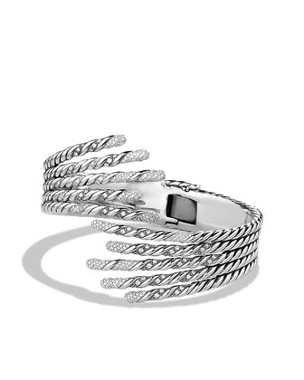 Willow Open Five-Row Bracelet with Diamonds