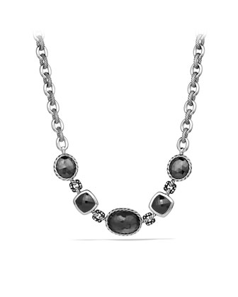 DY Collection Necklace with Crystal, Hematine, and Diamonds
