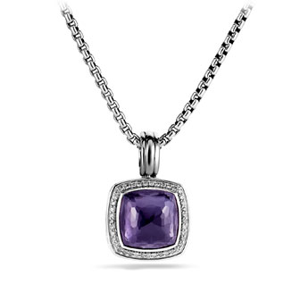 Albion Pendant with Black Orchid and Diamonds