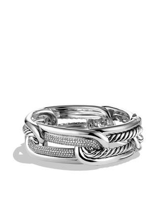 Labyrinth Link Bracelet with Diamonds