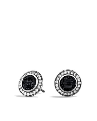 Cerise Mini Earrings with Black Onyx and Diamonds