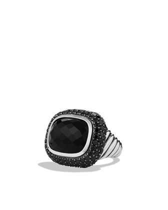 Waverly Limited-Edition Ring with Black Onyx and Black Diamonds