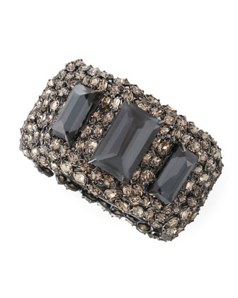 Metallic Nova XL Crystal Hinge Cuff