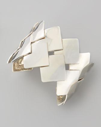 Woven Sterling Silver Cuff