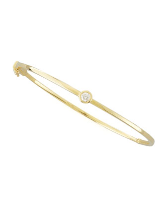 18k Yellow Gold Diamond Station Bangle