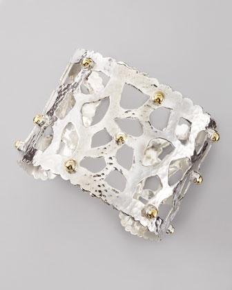 Sterling Silver Cutout Cuff Bracelet