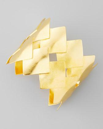 Woven 18k Gold Vermeil Cuff