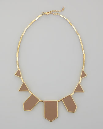 Five-Station Necklace, Khaki