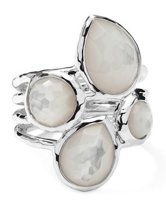 Sterling Silver Rock Candy 4-Stone Ring in Mother-of-Pearl