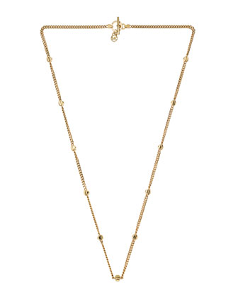 Pyramid-Stud-Station Necklace, Golden