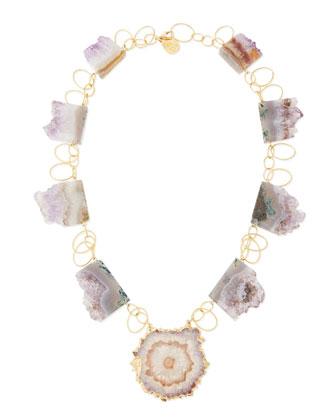 Amethyst Stalactite 18k Vermeil Necklace