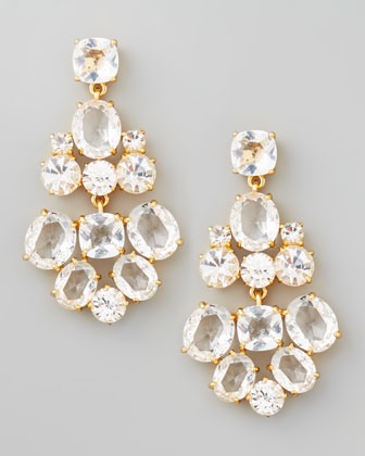crystal chandelier earrings, clear