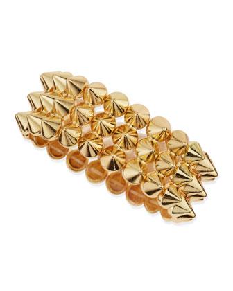 3-Row Mini Spike Stretch Bracelet