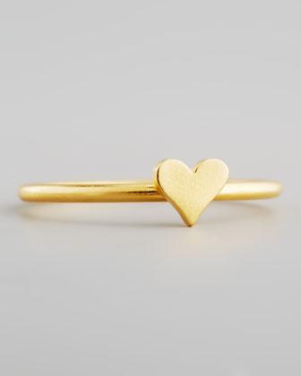 Gold Vermeil Heart Ring
