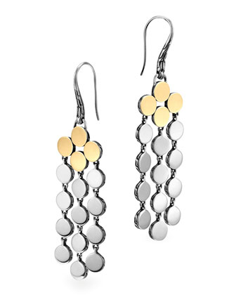 Dot Silver & 18k Gold Chandelier Earrings