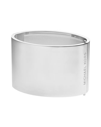 Wide Engraved Hinge Bangle