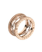 Monogram-Cutout Ring, Rose Golden
