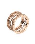 Monogram-Cutout Ring, Rose Golden