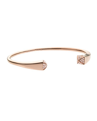 Crystallized Reverse Cuff, Rose Golden