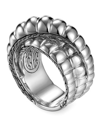 Bedeg Silver Wrap Ring