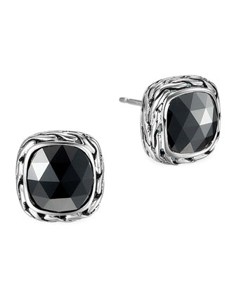 Batu Chain Hematite Stud Earrings