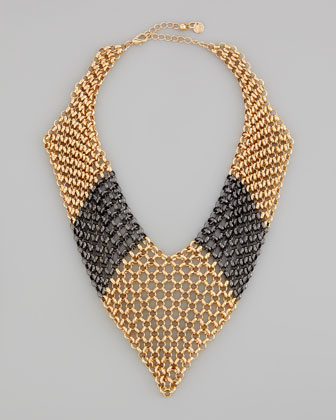 Knights Armor Chain Bib Necklace