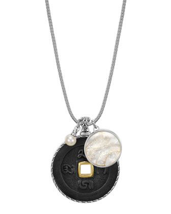 Batu Coin Pendant Charm Necklace