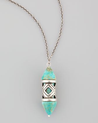 Turquoise Cutout Pendant Necklace