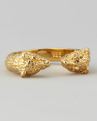 Small Bear Ring, Yellow Gold