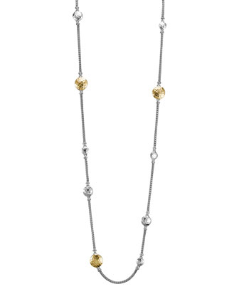 Palu Silver & Gold Sautoir Necklace