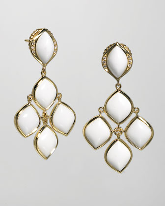 Simone 18k Gold Agate Chandelier Earrings