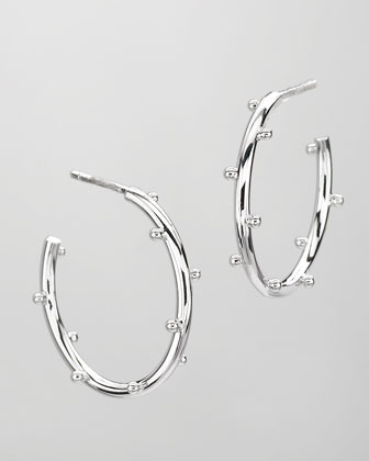 Small Classic Ball Hoop Earrings