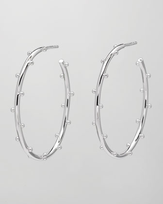 Medium Classic Ball Hoop Earrings