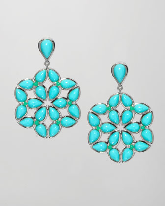 Kaleidoscope Earrings, Blue/Green